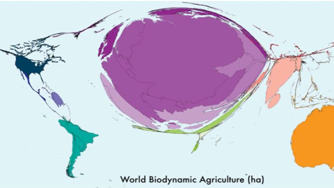 Carte mondiale de l'agriculture biodynamique